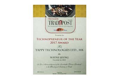 "Tappy 获得 Trade Post ""Technopreneur""奖"